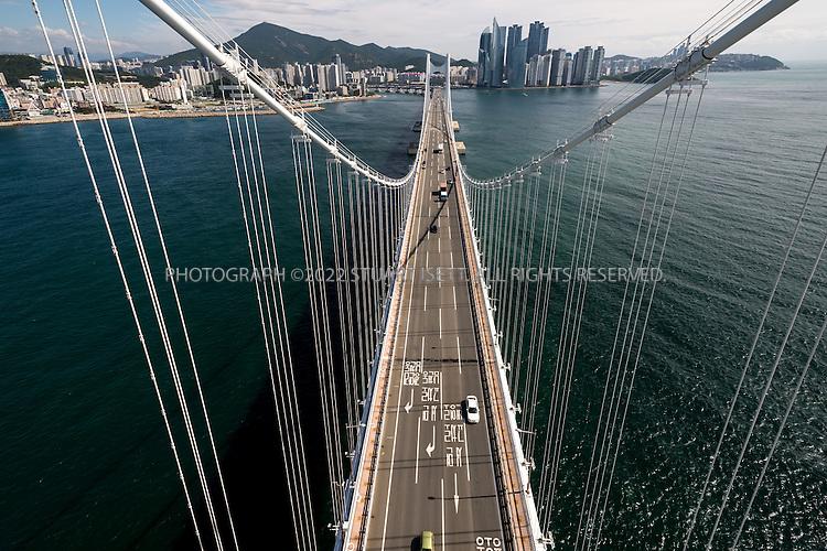 9/4/2013--Busan, South Korea<br /> <br /> Gwangan Bridge in Busan (Pusan).<br /> <br /> Photograph by Stuart Isett<br /> &copy;2013 Stuart Isett. All rights reserved.