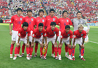 Korea Republic starting XI. Korea Republic defeated Togo 2-1 in their FIFA World Cup Group G match at the FIFA World Cup Stadium, Frankfurt, Germany, June 13, 2006.