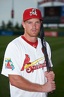 Springfield Cardinals outfielder Charlie Tilson (8) poses for a photo before a game against the Frisco RoughRiders  on June 4, 2015 at Hammons Field in Springfield, Missouri.  Frisco defeated Springfield 8-7.  (Mike Janes/Four Seam Images)