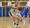 Shelby Maldavir #4 of Northport steals a pass during a Suffolk Shootout tournament game against Glenn at Northport High School on Thursday, Dec. 28, 2017. She scored 10 points in Northport's 65-35 win.