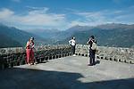 Panorama sulla val Susa dalla Sacra di San Michele