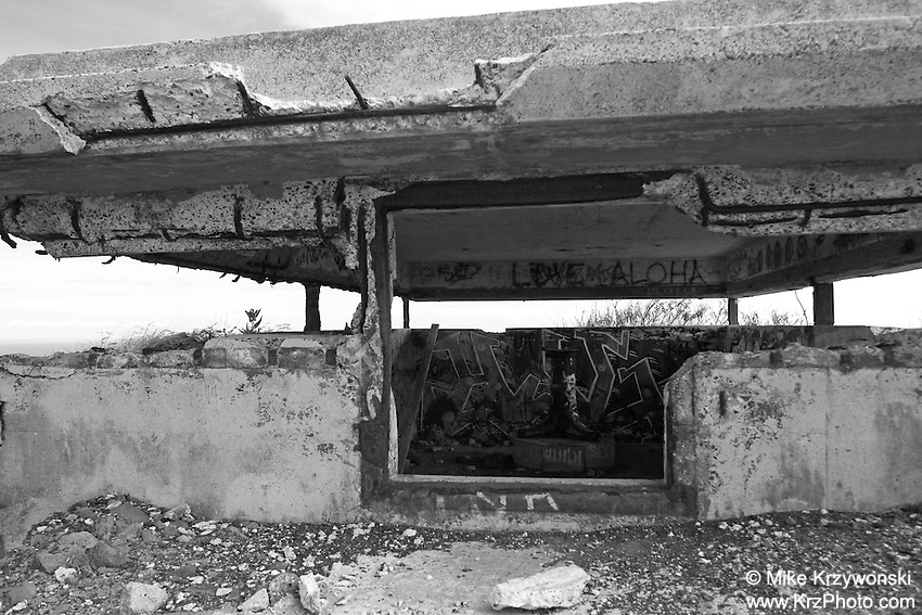 Old WWII Military Bunker, Makapuu, Oahu, Hawaii