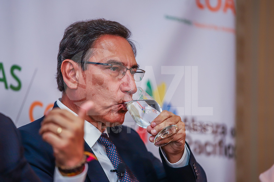 NOVA YORK, EUA, 25.09.2019 - POLITICA-EUA - Martín Vizcarra Presidente do Peru, durante encontro do Conselho das Americas na cidade de Nova York nesta quarta-feira, 25. (Foto: Vanessa Carvalho/Brazil Photo Press)