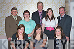 FRIESIAN BREEDERS: Enjoying the Friesian Breeders annual social held at the Earl of Desmond hotel on Friday seated l-r: Tom Crean (Treasurer), Hannah Landers (Secretary), Pat Landers (President), Marion Kennelly and Peter Kennelly (Chairman). Back l-r: Katie, Emer and Noi?rin Kennelly..   Copyright Kerry's Eye 2008