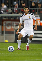 13 April 2011: Los Angeles Galaxy defender Omar Gonzalez #4 in action during an MLS game between Los Angeles Galaxy and the Toronto FC at BMO Field in Toronto, Ontario Canada..The game ended in a 0-0 draw.