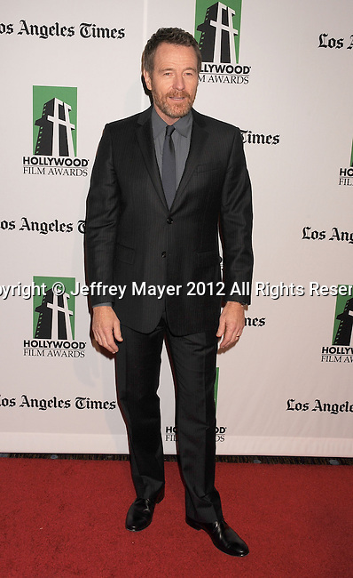 BEVERLY HILLS, CA - OCTOBER 22: Bryan Cranston arrives at the 16th Annual Hollywood Film Awards Gala presented by The Los Angeles Times held at The Beverly Hilton Hotel on October 22, 2012 in Beverly Hills, California.