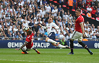 Tottenham Hotspur's Christian Eriksen gets in a first half shot<br /> <br /> Photographer Rob Newell/CameraSport<br /> <br /> Emirates FA Cup - Emirates FA Cup Semi Final - Manchester United v Tottenham Hotspur - Saturday 21st April 2018 - Wembley Stadium - London<br />  <br /> World Copyright &copy; 2018 CameraSport. All rights reserved. 43 Linden Ave. Countesthorpe. Leicester. England. LE8 5PG - Tel: +44 (0) 116 277 4147 - admin@camerasport.com - www.camerasport.com
