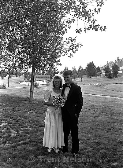 Trent Nelson and Laura Nelson before Trent &amp; Laura's wedding.<br />