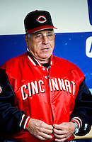 Cincinnati Reds Manager Jack McKeon before a 1999 Major League Baseball season game against the Los Angeles Dodgers in Los Angeles, California. (Larry Goren/Four Seam Images)