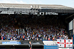 Ipswich Town 1 Blackburn Rovers 1, 18/08/2012. Portman Road, Championship. Blackburn visit Suffolk for their first game back in the Championship. Blackburn supporters celebrate the goal from Colin Kazim-Richards. Photo by Simon Gill.