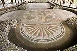 Roman mosaic at Littlecote House Hotel, Hungerford, Berkshire, England, UK