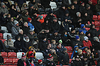 Fleetwood Town fans watch their team in action <br /> <br /> Photographer Kevin Barnes/CameraSport<br /> <br /> The EFL Sky Bet League One - Fleetwood Town v Peterborough United - Saturday 15th February 2020 - Highbury Stadium - Fleetwood<br /> <br /> World Copyright © 2020 CameraSport. All rights reserved. 43 Linden Ave. Countesthorpe. Leicester. England. LE8 5PG - Tel: +44 (0) 116 277 4147 - admin@camerasport.com - www.camerasport.com