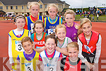 Competitors in the u12 600m final at the Denny Kerry Coummunity Games finals in Castleisland on Sunday front row l-r: Laura Dwyer Dromid, Elaine O'Donoghue Firies, Maeve McElligott Rock Street/Caherslee. Middle row: Abbie Curran Dromid/Caherdaniel, Lillian O'Shea Sneem, Natasha Myers Keel/Kiltallagh, Rhona Randles Kenmare. Back row: Maire and Grace Courtney Spa/Muckross and Elizabeth Stack Spa/Muckross