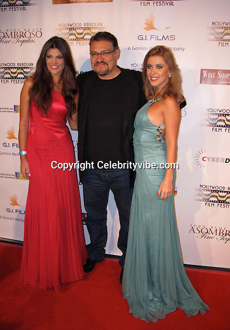 Miss Brazil 2008 and Model Natalia Anderle, Actor Joaquin Cosio and Actress and Model Marcela Tinti..Brazilian Film Festival Opening Gala..Screening of Seguraca Nacional Movie..American Cinematheque Egyptian Theatre..Hollywood, CA, USA..Thursday, February 04, 2010..Photo By Celebrityvibe.com.To license this image please call (212) 410 5354; or Email: celebrityvibe@gmail.com ; .website: www.celebrityvibe.com.