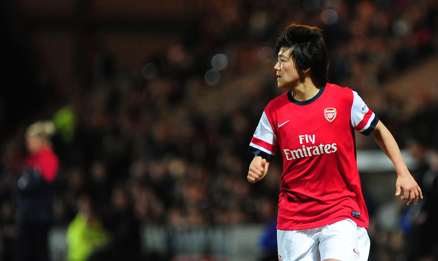 Arsenal Ladies' Shinobu Ohno <br /> <br /> Photo by Chris Vaughan/CameraSport<br /> <br /> Women's Football - FA Women&rsquo;s Super League 1 - Notts County Ladies v Arsenal Ladies - Wednesday 16th April 2014 - Meadow Lane - Nottingham<br /> <br /> &copy; CameraSport - 43 Linden Ave. Countesthorpe. Leicester. England. LE8 5PG - Tel: +44 (0) 116 277 4147 - admin@camerasport.com - www.camerasport.com