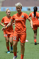 Houston, TX - Saturday May 27, 2017: Janine van Wyk warming up during a regular season National Women's Soccer League (NWSL) match between the Houston Dash and the Seattle Reign FC at BBVA Compass Stadium.