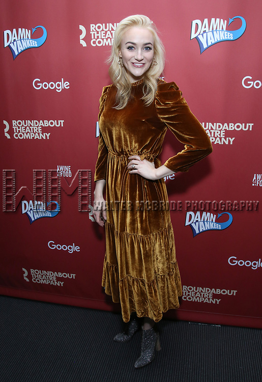 Betsy Wolfe attends the cast party for the Roundabout Theatre Company presents a One-Night Benefit Concert Reading of 'Damn Yankees' at the Stephen Sondheim Theatre on December 11, 2017 in New York City.