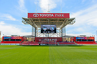Bridgeview, IL - Saturday April 22, 2017: Toyota Park before a regular season National Women's Soccer League (NWSL) match between the Chicago Red Stars and FC Kansas City at Toyota Park.