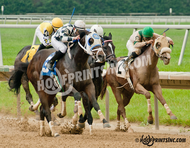 Burning Mandate winning at Delaware Park on 6/10/13