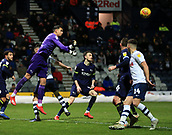 1st February 2019, Deepdale, Preston, England; EFL Championship football, Preston North End versus Derby County; Derby County goalkeeper Kelle Roos punches the ball clear