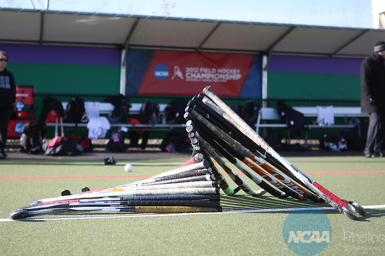 18 NOV 2012:  Tufts University takes on Montclair State University during the Division III Women's Field Hockey Championship held at J.J. McCooey Memorial Field in Geneva, NY.  Tufts defeated Montclair State 2-1 to win the national title.  Kevin Colton/NCAA Photos
