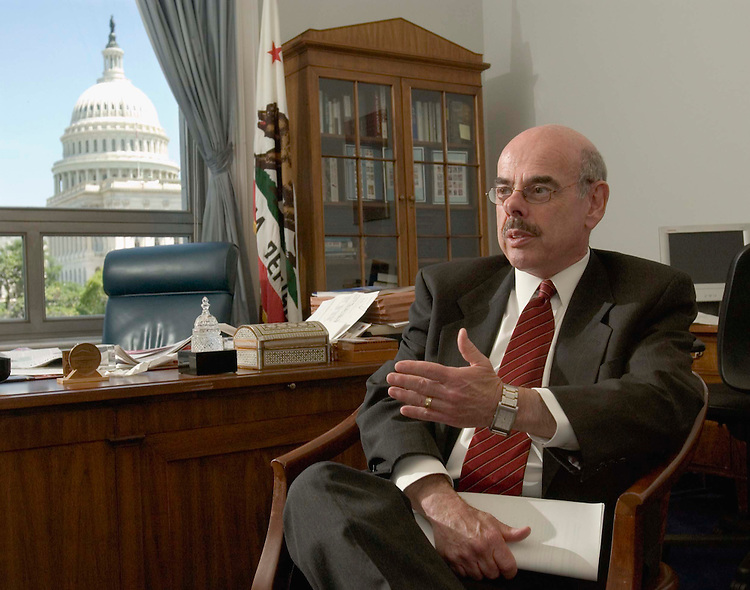 06/22/05.WAXMAN--House Government Reform ranking Democrat Henry A. Waxman, D-Calif., during an interview in his office. CONGRESSIONAL QUARTERLY PHOTO BY SCOTT J. FERRELL