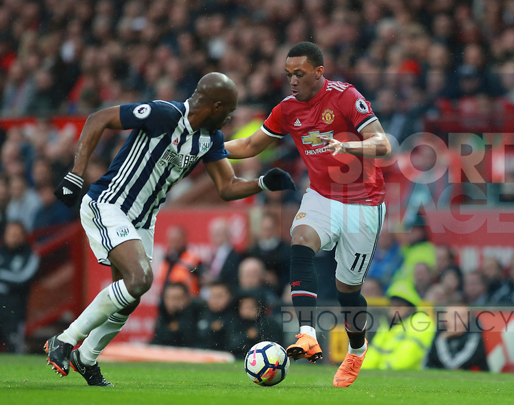 Anthony Martial of Manchester Unitedduring the premier league match at the Old Trafford Stadium, Manchester. Picture date 15th April 2018. Picture credit should read: Simon Bellis/Sportimage