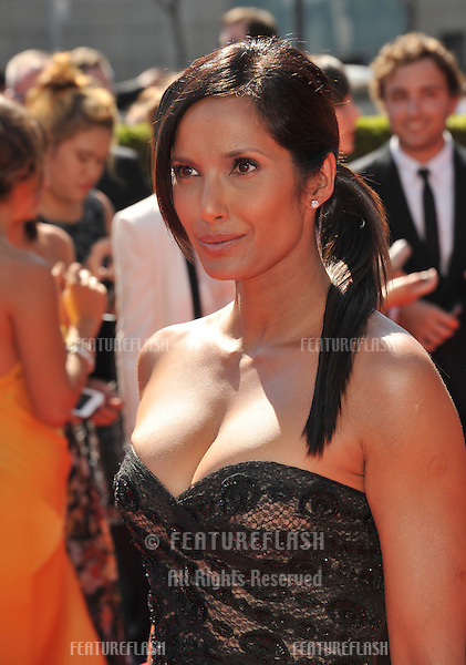 Padma Lakshmi at the 2012 Primetime Creative Emmy Awards at the Nokia Theatre, LA Live..September 15, 2012  Los Angeles, CA.Picture: Paul Smith / Featureflash