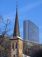 St. Kunigunde in Clausen, Europazentrum auf dem Kirchberg, Luxemburg-City, Luxemburg, Europa<br /> St. Kunigunde in Clausen, , European Center, Luxembourg City, Europe