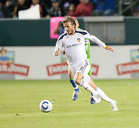 CARSON, CA – NOVEMBER 7:  LA Galaxy midfielder David Beckham (23) during a soccer match at the Home Depot Center, November 7, 2010 in Carson, California. Final score LA Galaxy 2, Seattle Sounders 1.