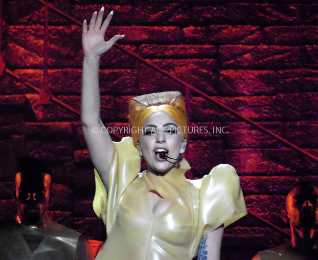 WWW.ACEPIXS.COM . . . . .  ..... . . . . US SALES ONLY . . . . .....August 18 2012, Vienna....Lady Gaga performs live on August 18 2012 in Vienna, Austria....Please byline: FAMOUS-ACE PICTURES... . . . .  ....Ace Pictures, Inc:  ..Tel: (212) 243-8787..e-mail: info@acepixs.com..web: http://www.acepixs.com