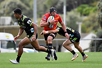 Pieter LABUSCHAGNE (ピーター・ラブスカフニ) in action during the Hurricanes Hinters v Wolfpack at Jerry Collins Stadium, Porirua, New Zealand on Friday 29 March 2019. <br /> Photo by Masanori Udagawa. <br /> www.photowellington.photoshelter.com