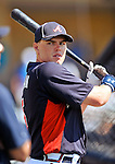 8 March 2011: Atlanta Braves infielder Freddie Freeman awaits his turn in the batting cage prior to a game against the New York Yankees at Champion Park in Orlando, Florida. The Yankees edged out the Braves 5-4 in Grapefruit League action. Mandatory Credit: Ed Wolfstein Photo