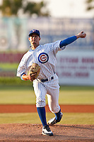 April 14 2010: Chris Rusin (21) of the Daytona Beach Cubs during a game vs. the Dunedin Blue Jays at Jackie Robinson Ballpark in Daytona Beach, Florida.  Daytona Cubs, the Florida State League High-A affiliate of the Chicago Cubs, lost to Dunedin, affiliate of the Toronto Blue Jays, by the score of 11-6.  Photo By Scott Jontes/Four Seam Images