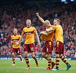 Curtis Main celebrates his goal