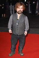 "Peter Dinklage<br /> arriving for the London Film Festival 2017 closing gala of ""Three Billboards"" at Odeon Leicester Square, London<br /> <br /> <br /> ©Ash Knotek  D3337  15/10/2017"