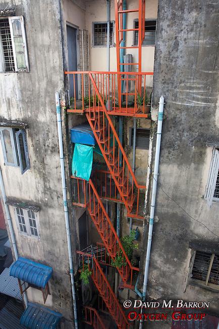 Stairwell, Downtown Yangon