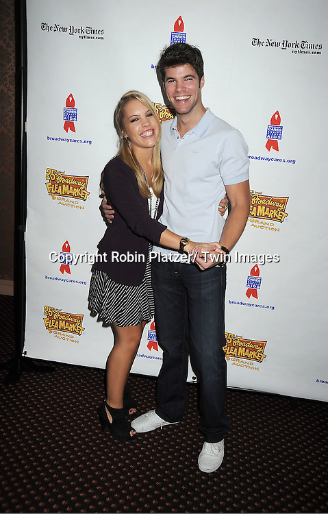 Kristen Alderson and Nik Robuck attends the 25th Annual Broadway Flea Market and Grand Auction benefiting Broadway Cares/ Equity Fights Aids on September 25, 2011 at Shubert Alley.