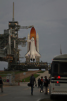 Sunset before final launch of space shuttle Atlantis STS135, Kennedy Space Center, Cape Canaveral, Florida, USA, July 7, 2011. Photo by Debi Pittman Wilkey