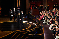 Elizabeth Martin and Marshall Curry accept the Oscar® for Adapted Screenplay during the live ABC Telecast of The 92nd Oscars® at the Dolby® Theatre in Hollywood, CA on Sunday, February 9, 2020.<br /> *Editorial Use Only*<br /> CAP/AMPAS<br /> Supplied by Capital Pictures