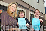 VOTER EDUCATION: Some of the organisers of the voter education seminars to be held in Tralee, l-r: Geraldine O'Sullivan (Kerry Volunteer Centre), June Moynihan (Tralee Community Development Project), Marie Anne Houlihan (Kerry Education Service).