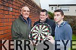 Joe Flynn, Mike McCarthy and Tommy Shine who are launching the upcoming Tralee Darts Tournament.