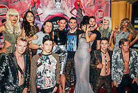 Carlos Ramirez, Janice Dickinson, Erik Rosete, Bai Ling, and models at Mister Triple X Presents Bunny Land Los Angeles Trunk Show & Fashion Party With Friends (Photo by Tiffany Chien/Guest Of A Guest)