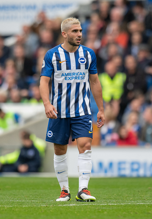 Brighton & Hove Albion's Neal Maupay<br /> <br /> Photographer David Horton/CameraSport<br /> <br /> The Premier League - Brighton and Hove Albion v Tottenham Hotspur - Saturday 5th October 2019 - The Amex Stadium - Brighton<br /> <br /> World Copyright © 2019 CameraSport. All rights reserved. 43 Linden Ave. Countesthorpe. Leicester. England. LE8 5PG - Tel: +44 (0) 116 277 4147 - admin@camerasport.com - www.camerasport.com