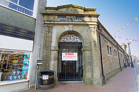 Pictured: The closed down Indoor Market in Green Street, Neath city centre, Wales, UK. Friday 27 March 2020<br /> Re: Covid-19 Coronavirus pandemic, UK.