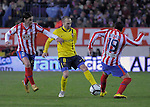 MADRID, Spain (14/02/10).-Liga BBVA de futbol. Partido Atletico de Madrid-FC Barcelona..Andres Iniesta.©Raul Perez ..