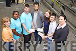 Tralee Credit Union presenting cheques to three youth groups at the K.D.Y.S. Tralee Youth Café on Friday. Special guest was Kerry Footballer Paul Galvin who was there to present the cheques to the three groups, Connect 7, Cooking for College Youth Group and K.D.Y.S. Photography Group. Pictured l-r: Ellen O'Doherty, Teresa Elemlu, Shane Roche, Paul Galvin, Sinead Farrelly, Ethan Cronin and Orla O'Shea (Tralee Credit Union)..