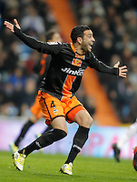 Valencia's Adil Rami reacts during King's Cup match. January 15, 2013. (ALTERPHOTOS/Alvaro Hernandez) /NortePhoto