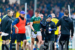 Sean O'Shea injured during the Munster Senior Football Semi Final between Kerry and Clare at Ennis on Saturday night.