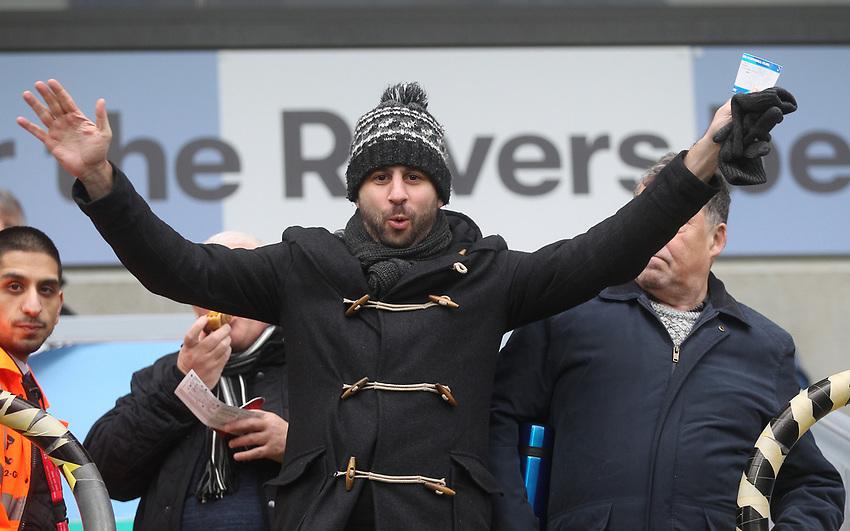 Blackburn Rovers Fans<br /> <br /> Photographer Mick Walker/CameraSport<br /> <br /> The EFL Sky Bet Championship - Blackburn Rovers v Bristol City - Saturday 9th February 2019 - Ewood Park - Blackburn<br /> <br /> World Copyright © 2019 CameraSport. All rights reserved. 43 Linden Ave. Countesthorpe. Leicester. England. LE8 5PG - Tel: +44 (0) 116 277 4147 - admin@camerasport.com - www.camerasport.com